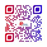 Access to China QR code blue red