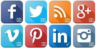 social icons sm