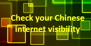 Check your Chinese internet visibility